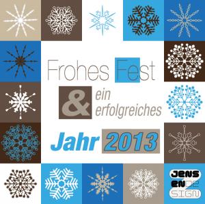 Weihnachtskarte & gesundes neues Jahr 2013